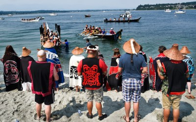 Tribal Canoe Journey visits K'omoks First Nations