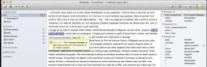 Les explications du correcteur orthographique et syntaxique d'Antidote 8 : une aide à la réflexion...