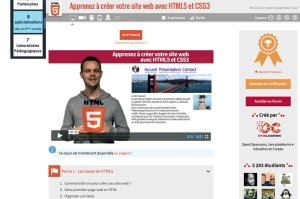 Les cours de HTML5 et CSS3 sur openclassroom