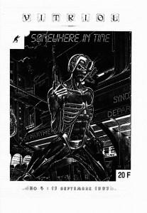 La couverture du numéro 4 de VITRIOL, sur le voyage dans le Temps... oui, le prix est en Francs Français...