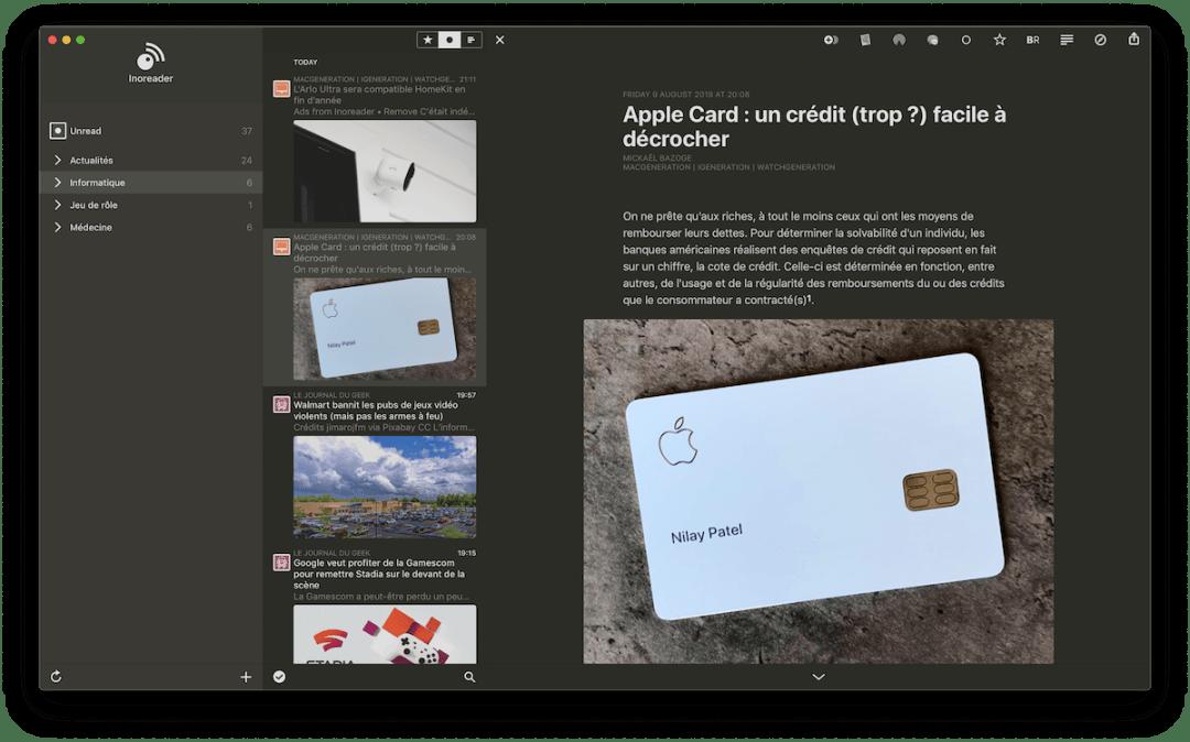 Reeder 4 interface