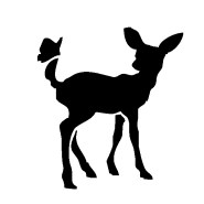 baby deer and butterfly iron-on decal