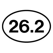 26.2 iron-on decal