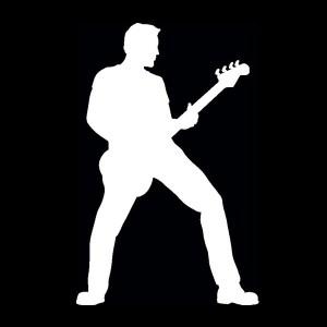 bass guitar player decal