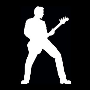 bass guitar player decal