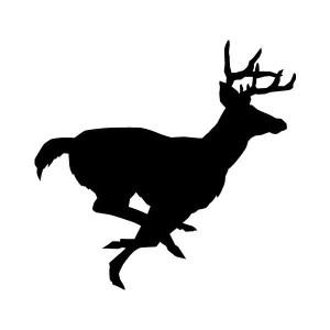 buck deer iron-on decal
