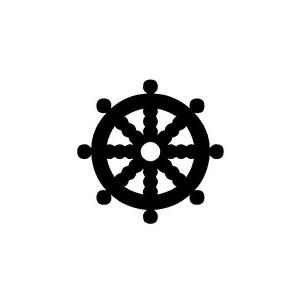 dharma wheel iron-on decal