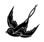 sparrow iron-on