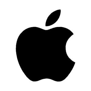 apple logo iron-on decal