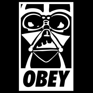 Darth Vader Obey decal