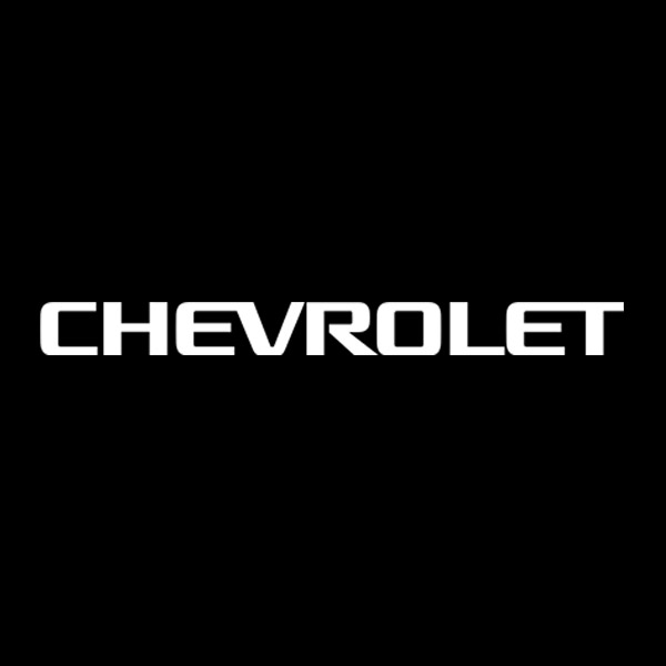 chevrolet text decal