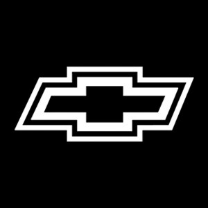 chevy bowtie outline 2 decal
