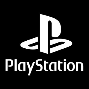 playstation with text decal