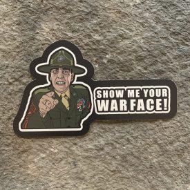The Gunny- Let me see your war face Vinyl Decal