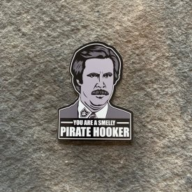 Smelly Pirate Hooker Vinyl Decal