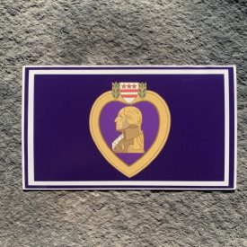 Ryan Weaver Heroes Collection:  Purple Heart Flag Decal by PatchOps