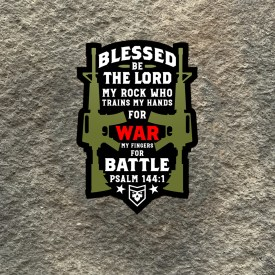 Psalm 144:1 Blessed Be The Lord Vinyl Decals