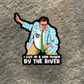 Chris Farley down by the river Vinyl Decal
