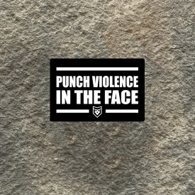 Punch Violence in the Face Vinyl Decal