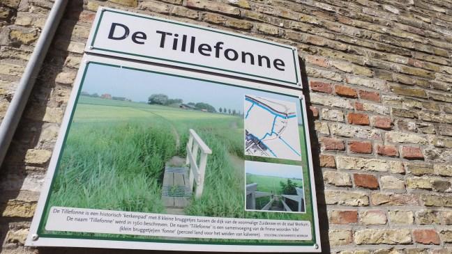 Informatiebord in de Tillefonnesteeg in Workum - de Canicula