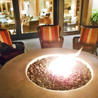 Fire pit at the The Lodge at Columbia Point