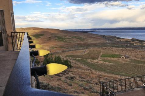 Destiny Ridge Vineyard Estate Columbia River view