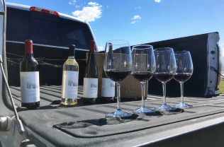 Tailgate wine tasting the inaugural Sagemoor wines