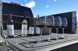 Tailgate wine tasting the inaugural Sagemoor wines