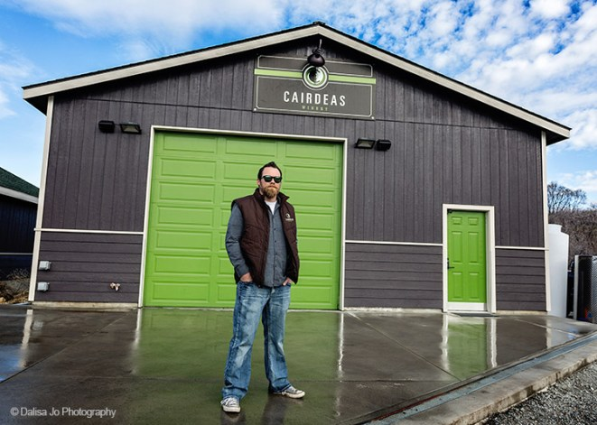 Charlie Lybecker, winemaker for Cairdeas Winery