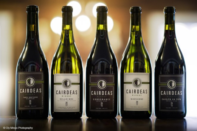 Cairdeas Winery bottle line up