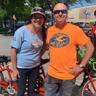 """Merv"" and Coroline from Chelan Electric Bikes"