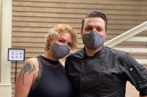 Chef Arron and his wife Sarah Tekulve