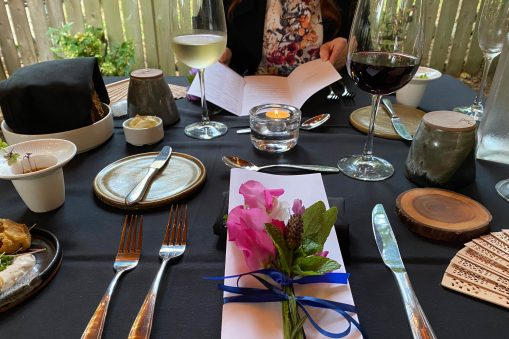 Table setting at Surrell