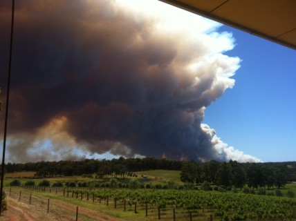 Fires from McHenry Hohnen Winery