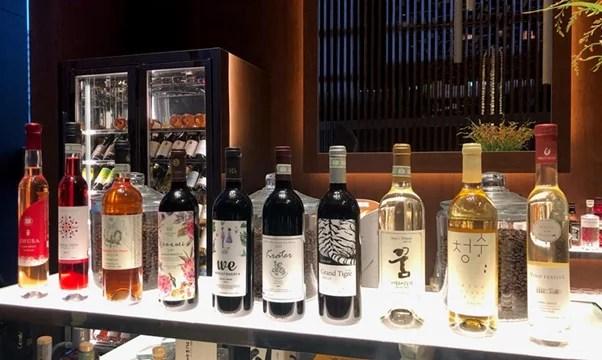 carta de vinos coreanos