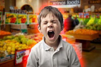 6 съвета как да избегнете детската истерия в хранителен магазин