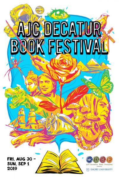 AJC Decatur Book Festival - 2019 Poster by Artist Sanithna Phansavanh