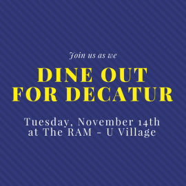 Dine Out for Decatur – November 14th