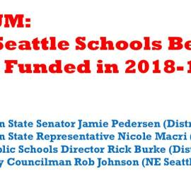 Forum: Will Seattle Schools Be Fully Funded in 2018-19