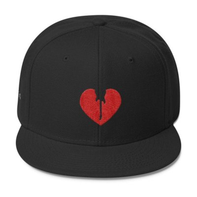 DKFM Wool Blend Snapback Baseball Cap