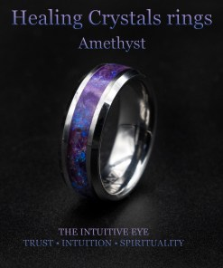 Earth ( healing ) Crystal rings