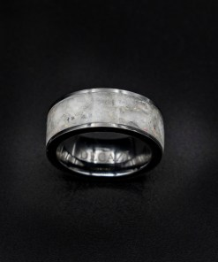 Herkimer Diamond Ring with White Opal, Tungsten Jewelry | Decazi