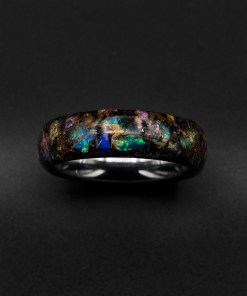 Custom Engagement Ring, Tungsten Ring, Australian Opal Ring | Decazi