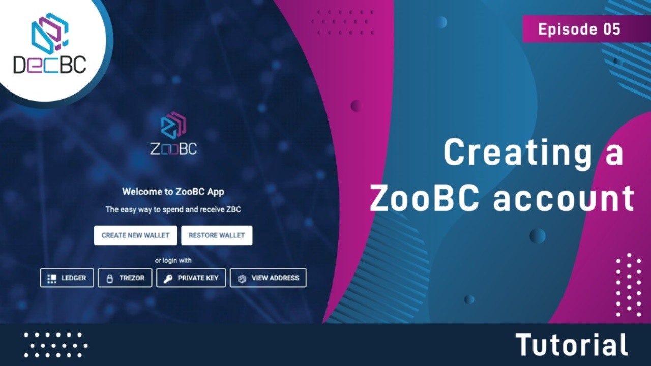 Creating a ZooBC account