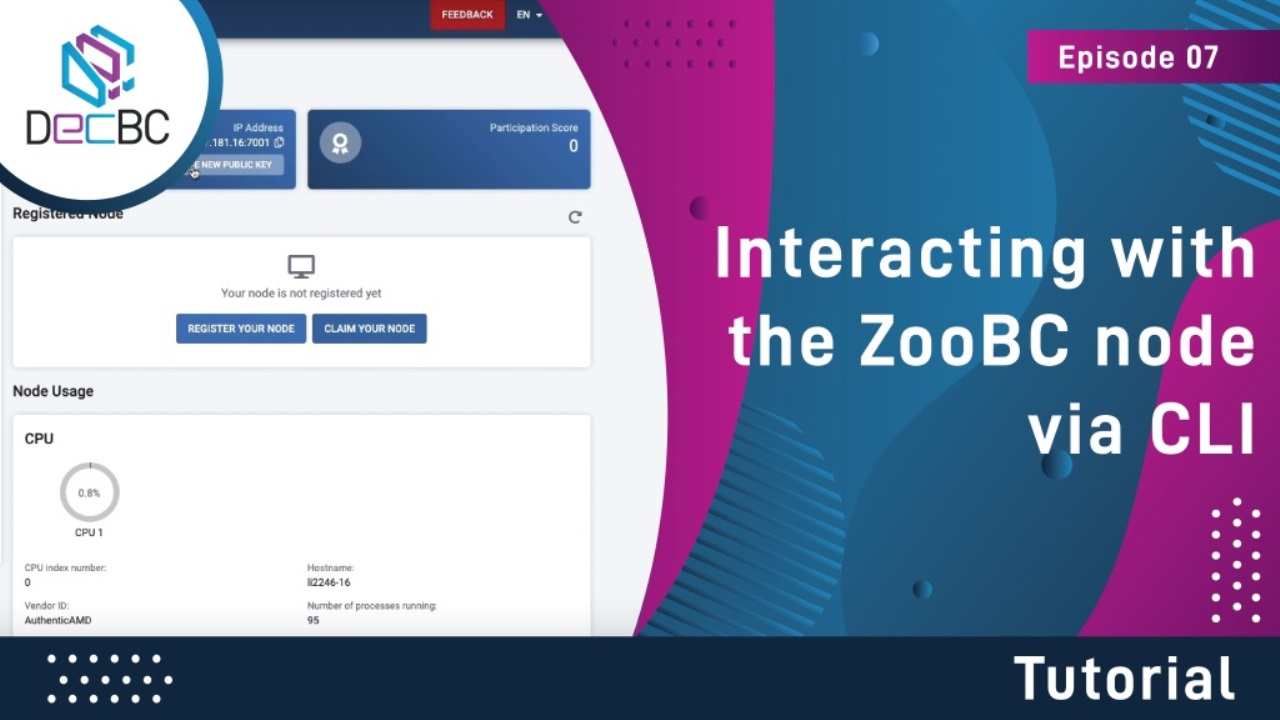 Interacting with the ZooBC node via CLI