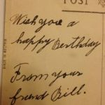 My grandfather's birthday greeting to my grandmother