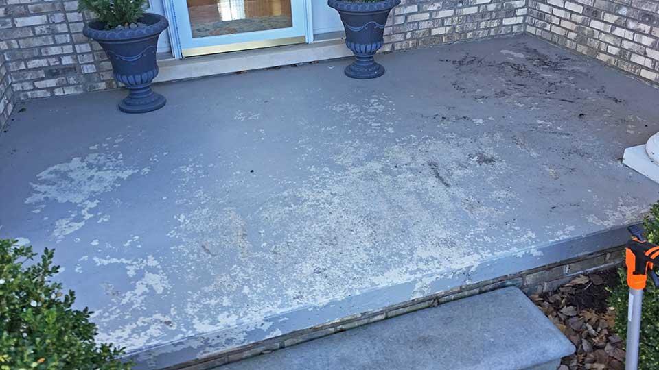 concrete sealer stripping restoration