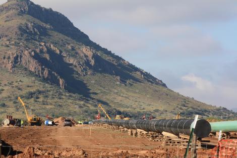 Trans-Pecos Pipeline crossing through Alpine, Texas, in late 2016. Image: Greg Harman