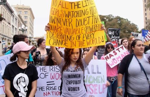 2018 International Women's Day March, San Antonio, Texas.