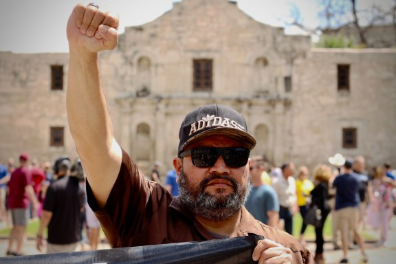 Cesar E Chavez March for Justice in San Antonio.